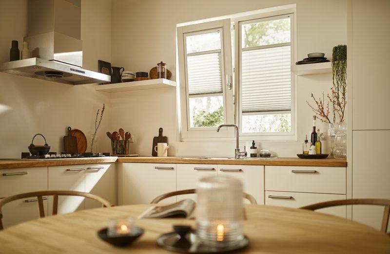 Binnen zonwering keuken